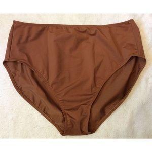 Shape FX Womens Swim Bottoms Plus Size 20W Brown